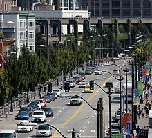 Alaskan Way in Seattle by Wolf Read
