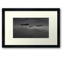 Flying the Hump Framed Print