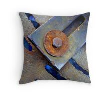 Rusty Bolt and Washer Throw Pillow