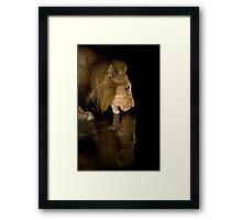 Dark Reflection Framed Print