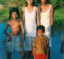 Guyana East Indian country family by Jerry Clitty