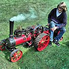 A Marshall 3 inch scale steam Traction Engine at Hawkesbury Upton Fair. by Clive Lewis-Hopkins.