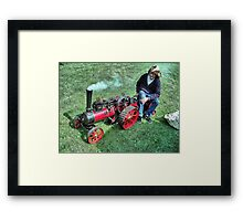 A Marshall 3 inch scale steam Traction Engine at Hawkesbury Upton Fair. Framed Print