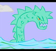 sea serpent... by kangarookid