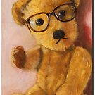 Jonathan - teddy bear portrait by LindaAppleArt