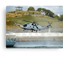 Merlin Helicopter Metal Print