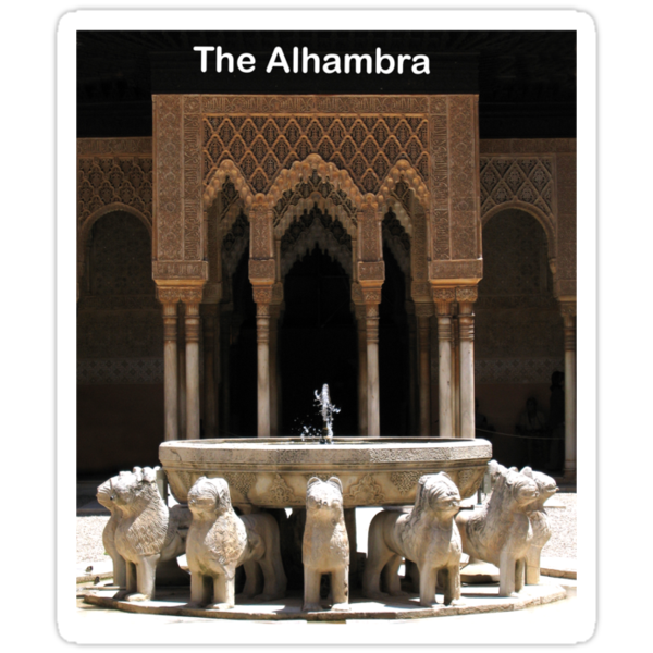 T Shirt The Alhambra in Granada, Spain by Linda More