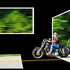 Biker in Motion by Chip  Ford