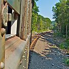 """Looking Back Down The Track"" - Naugatuck RR - © 2009 by Jack McCabe"