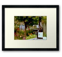 Tasting in the Garden Framed Print