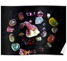 crown  chakra stones  Poster