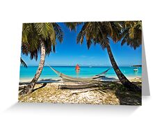 Red Sail and Hammock Greeting Card