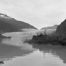 Mendenhall Glacier in Black & White by BarbL