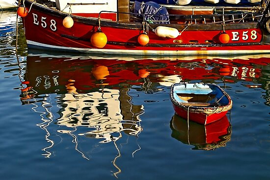 Harbour Reflections ~ Lyme Regis by Susie Peek
