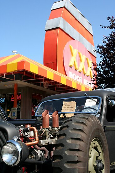 Six Pack Rat Rod Loves RootBeer by starlitewonder
