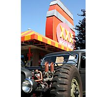 Six Pack Rat Rod Loves RootBeer Photographic Print