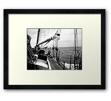 Cracking Along The Wine-dark Sea Framed Print