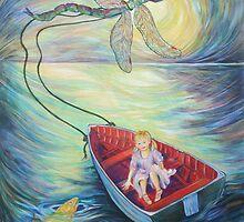 Girl in a Boat 1 by Deborah Conroy