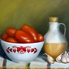 Romas, Garlic And Oil by Margaret Stockdale
