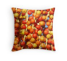 Palm Fruit Delights Throw Pillow