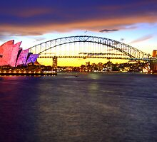Sydney Harbor Bridge & Opera House by Corien