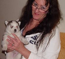 Mom and Husky Pup by RealPainter