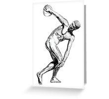 The Discus Thrower Greeting Card