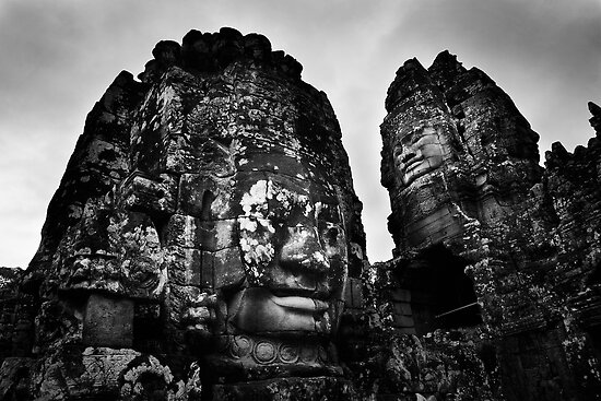 Smiling Guardians - The Bayon, Cambodia by Alex Zuccarelli