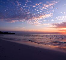 Sunset in Pastels - Cocos (Keeling) Islands by Karen Willshaw