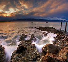 Storm engulfed sunset by KensKaikoura