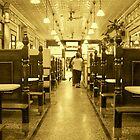 Manzies Pie and Mash Shop - interior by ANNETTE HAGGER