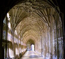 Gloucester Cathedral - East Cloister by Kaukahi