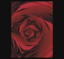 Red Fractal Rose T by plunder