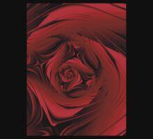 Red Fractal Rose T by plunder