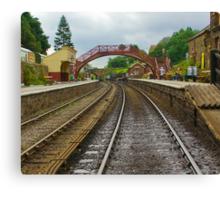 Foot Bridge at Goathland Station Canvas Print