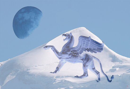 Shouting the blue moon by Heike Schenk Arena