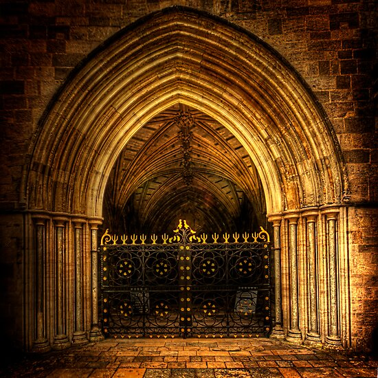 Priory Door by Mark Waugh