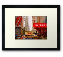 The Lights are Bright on Broadway (resized) Framed Print