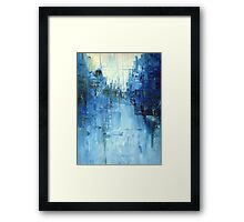 Cold #3 Abstract cityscape Framed Print