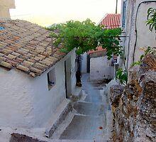 Walkway in the city of Corfu. by loiteke