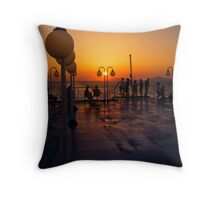 On the ship. Throw Pillow