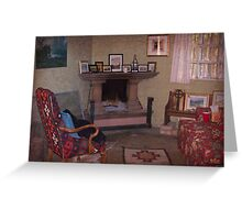 Old Church Sitting Room Greeting Card