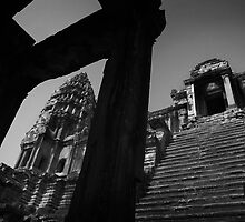 Angkor Stairs - Angkor Wat, Cambodia by Alex Zuccarelli