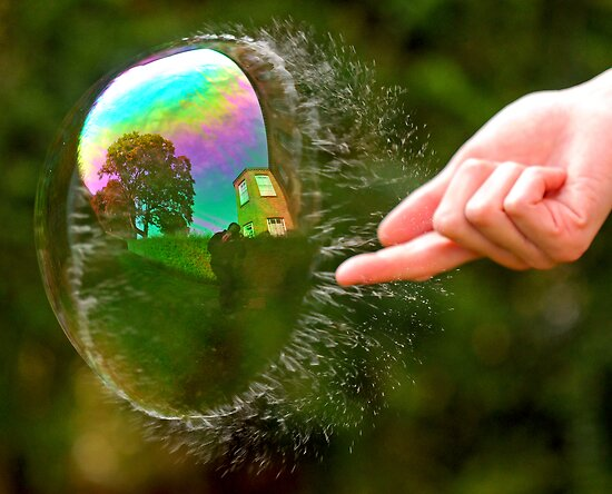 Green Bubble Popping (One-Sided Reflection!) by Richard Heeks