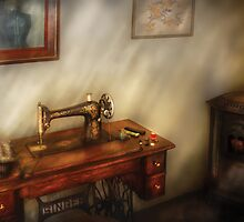 Sewing in a cozy room  by Mike  Savad