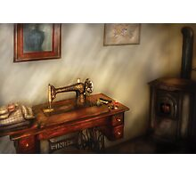 Sewing in a cozy room  Photographic Print