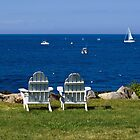 Adirondack Chairs by the Ocean by Monica M. Scanlan