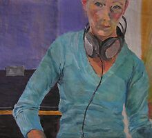 Self-portrait with headphones II. by kudra