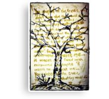 Treeology Canvas Print