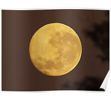Fathers Day Moon Poster